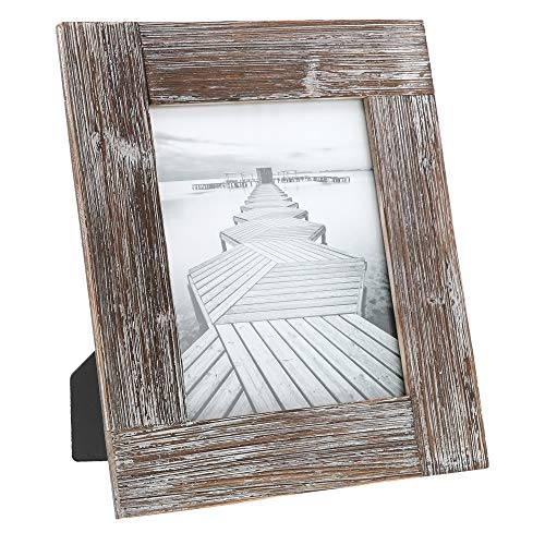 """(Barnyard Designs Rustic Farmhouse Distressed Picture Frame - Unfinished Wood Photo Frame 8"""" x)"""