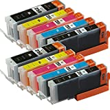 ETI office PGI250 CLI251 Compatible ink cartridges For Canon PIXMA MG5420 MG5450 MG6350and son on(2BK,2BK,2C,2M,2Y.)(with chip installed)(10 pack)