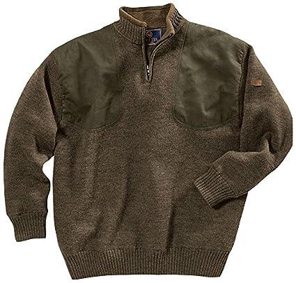 Beretta Men's Wind Barrier Short Zip Sweater, Medium, Brown