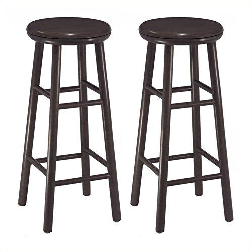 wood bar stools espresso - 2