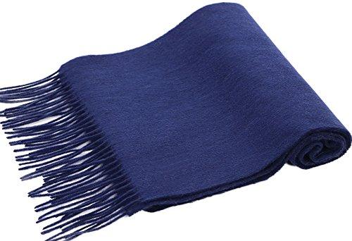 Simplicity Luxurious 63.5 x 11.5 Cashmere Scarf w/Gift Box, Cobalt blue (Box Cobalt)