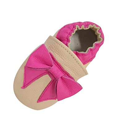 bea3f120d3476 LSERVER Chaussure en Cuir Souple Chaussons pour Enfant Bébé Garçon Fille
