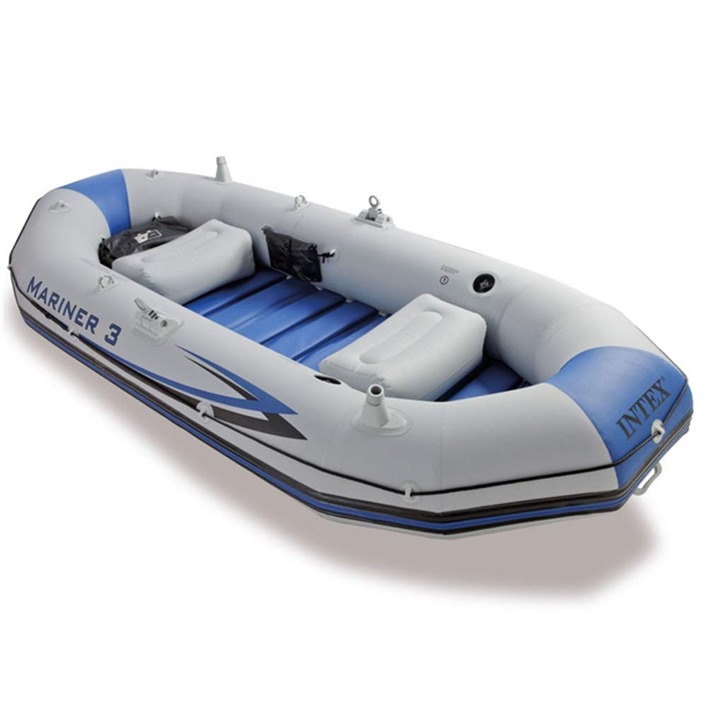 Teerwere-pht Double Inflatable Kayak Professional Sailor Three Inflatable Boat Rubber Rowing Fishing Boat to Send Paddle Hand Pump Kayak Set (Color : Gray, Size : 29712746CM) by Teerwere-pht