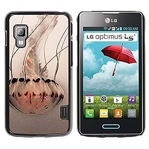 Paccase / SLIM PC / Aliminium Casa Carcasa Funda Case Cover - Umbrella Art White Ocean - LG Optimus L5 II Dual E455 E460