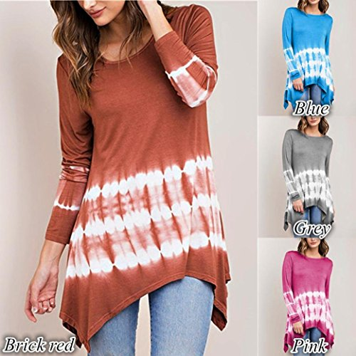Gradient Taile Chemise S T Couleur Longues XXXXXL Chic Caf Shirt Guesspower Tops Loose Femme O Casual Tops Manches Neck Blouse 4 Irrgulire Grand Blouse zpqqC7xw