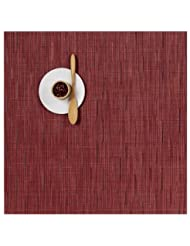 Bamboo Set Of 4 Square Tablemats By Chilewich R237651 Color Cranberry