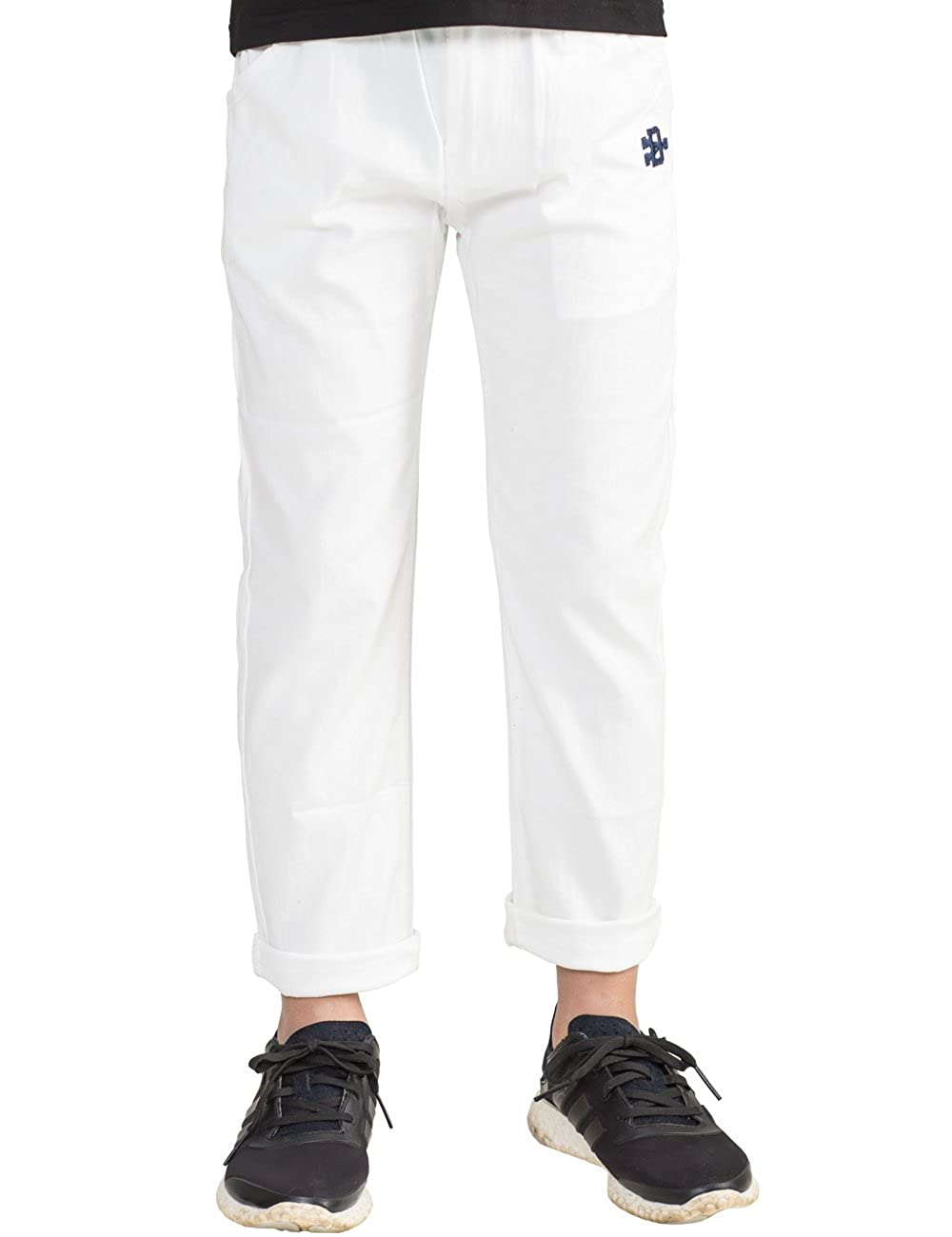 BYCR Boys' Solid Color Elastic Chino Cotton Pant for Kids Size 4 16