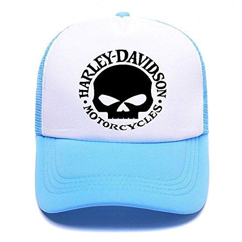 Harley D Black Baseball Caps Gorras de béisbol Trucker Hat Mesh Cap For Men Women Boy Girl 001 Sky Blue