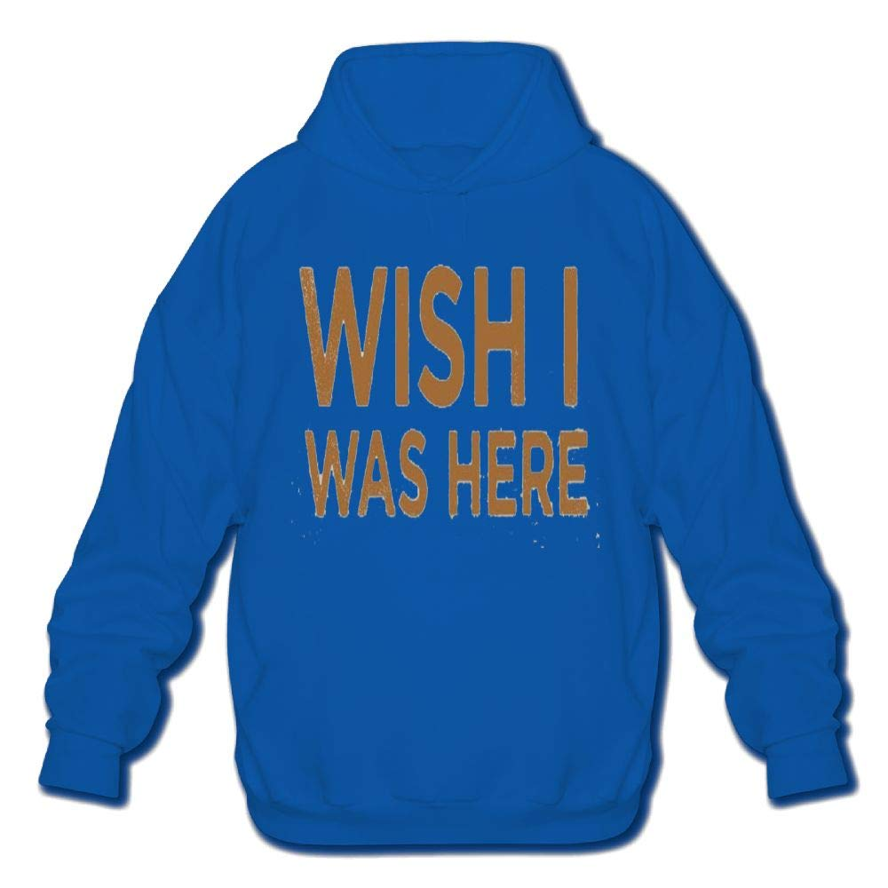 Mens Long Sleeve Cotton Hoodie Wish I was Here Sweatshirt
