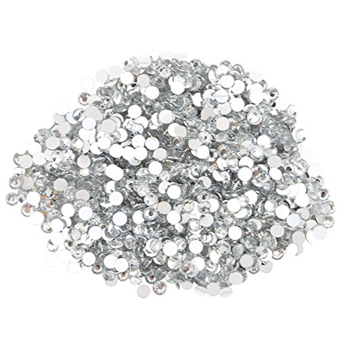 Round Beads for Jewelry Making - Flat Back Clear Crystal Rhinestones (3 mm) Wholesale Bulk - Yazycraft