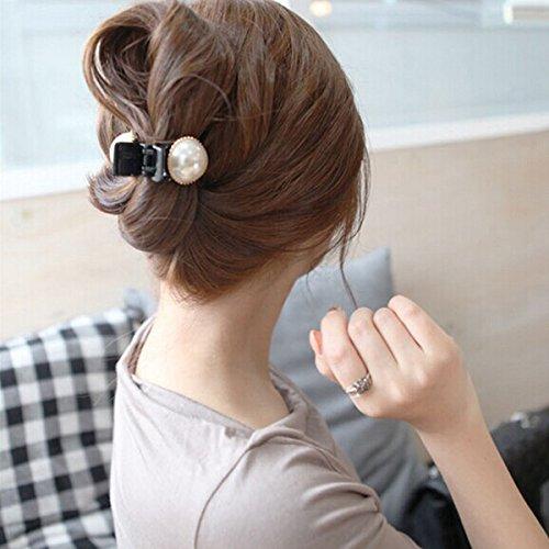 Pixnor 1pcs Pearl Women Kid Girl Hair Clip Pin Claw Barrette
