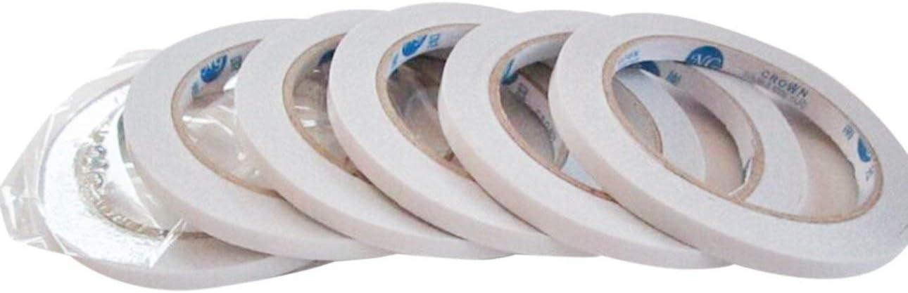 Pudincoco 1 unid 6mm Cinta adhesiva extremadamente fuerte de doble cara 6 MM Cinta adhesiva s/úper delgada y delgada para herramientas de reparaci/ón de tel/éfonos m/óviles