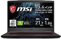 MSIゲーミングノートPC GF65 1.86Kg i7 RTX3060/15.6FHD/144Hz/16GB/512GB/GF65-10UE-258JP