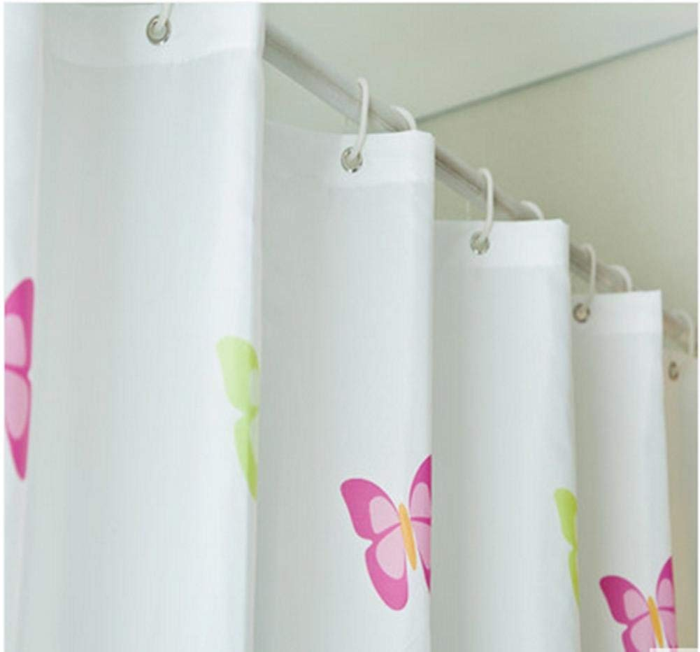 JaHGDU Shower Curtain 1pcs Printing Shower Curtain Waterproof Polyester Fabric Durable Partition Toilet Shade Super Quality Opaque Bathroom Amenities (Size : Color Butterfly 220180) by JaHGDU (Image #2)