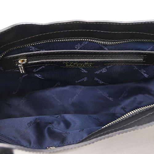 Borsa Pelle Olimpia Rosso Leather Tuscany In Nero Shopper EB1wO5nq