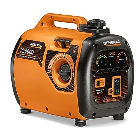 Generac 6866 iQ2000 Super Quiet 1600 Running Watts/2000 Starting Watts Gas Powered Inverter Generator - CARB (Portable 2000w Generator)