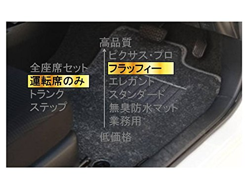 カーマット ホンダ パートナーバン HMJ.HM# 平成8年3月~平成18年3月  運転席のみグレー-フラッフィー B07BRH44FB 運転席のみ|4グレー 4グレー 運転席のみ