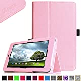 Fintie Folio Case for ASUS MeMO Pad HD 7-inch ME173X Tablet Slim Fit Support Sleep / Wake Function with Stylus Holder - Pink