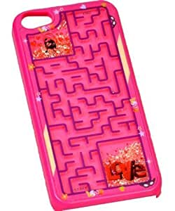 Generic Retro Maze Game Puzzle Hard PC Bumper Case Cover For Iphone 4 4G 4S (LOVE Pink) by supermalls