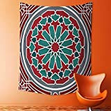 Magical Landscape Tapestry Collection Elegant Islamic Ethnic Old Style Ornate Persian Pattern with Victorian Touch Artprint for Bedroom Living Room Dorm