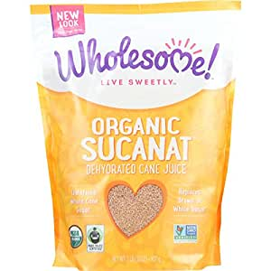 Wholesome Sweeteners, Sucanat, Organic, 2 lb