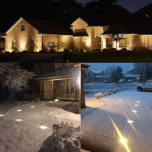 LED Landscape Lights, Sunriver 4W Low Voltage Well Lights IP67 Waterproof Outdoor In-ground High Bright Landscape Lights with Transformer 12V 24V Yard Spotlight (6 Pack, Warm White) by SUNRIVER (Image #7)