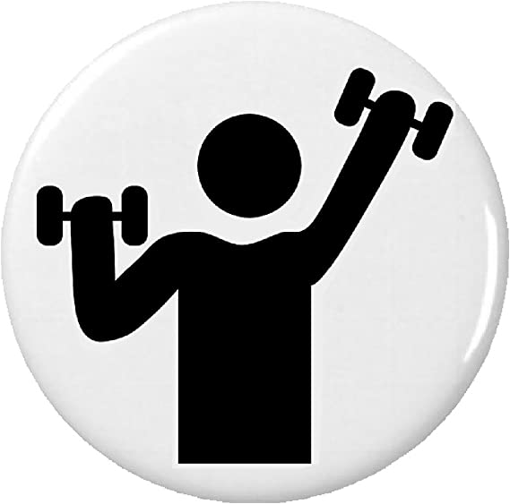 Amazon Fitness Exercise Workout Gym Symbol Sign 225 Keychain