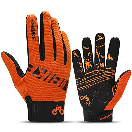 - INBIKE MTB BMX ATV Mountain Bike Bicycle Cycling Gloves Men Orange