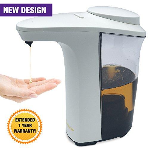 Automatic soap dispenser, NorthStar Bay 17oz/500ml Touchless Soap Dispenser, Fingerprint Resistant, IR Infrared Motion Sensor for Kitchen and Bathroom, Waterproof Base, Adjustable Dispensing Volume Northstar Accessories