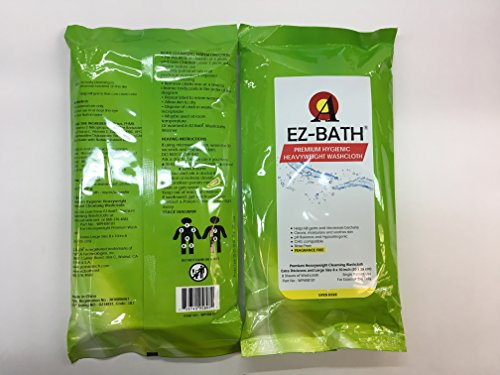 Heavyweight Cleansing Cloths, Unscented, Hygienic pH Balance(8 Sheets-8 Packs) by EZ-BATH (Image #2)