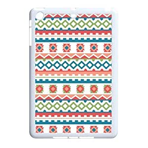 Aztec Colorful Pattern Bohemian Style Chevron Design Custom Luxury Cover Case with Best Plastic for IPad mini & IPad mini2