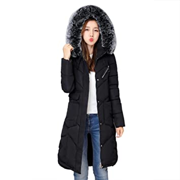 Abrigos de Mujer Largo Plumas, LILICAT Moda Tallas grandes Invierno Gruesa Cálido Lammy Chaqueta Outwear