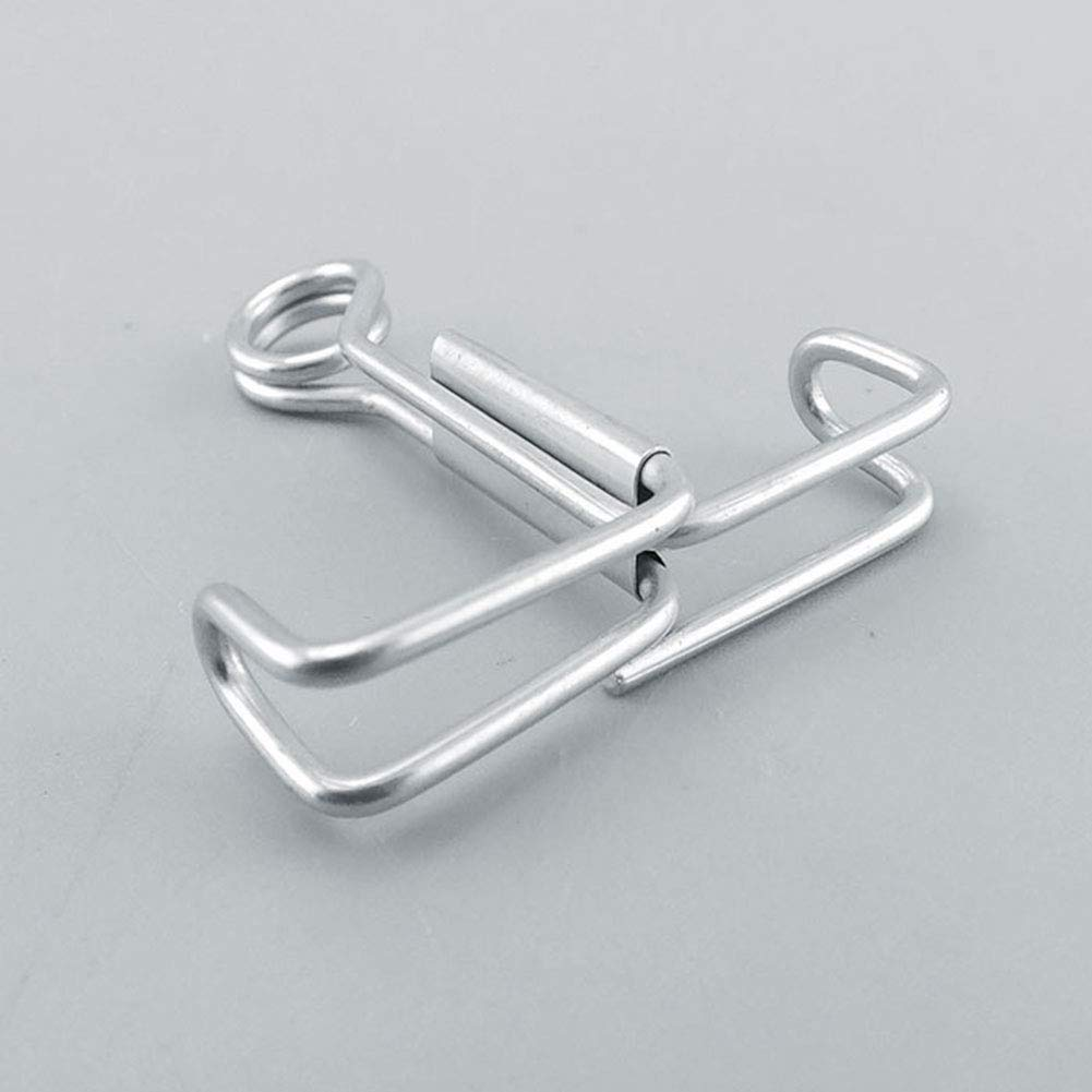 Pack of 10 Small Size Tansoole Stainless Steel Screw Water Stop Stoping Clips Sealing Clip Clamp