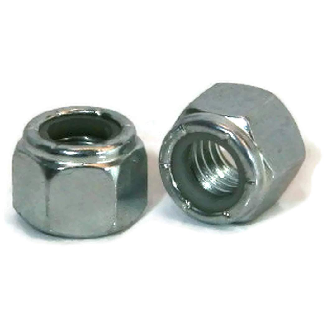 Qty-1000 Nylon Insert Jam Nut Zinc Plated Grade A Steel Hex Nuts #10-32 UNF