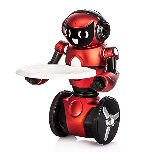 Wltoys Intelligent Two Wheels Balance RC Robot Toy with Dance Music Avoidance Human-computer Interaction Mode for Children Kids as a Gift Red -