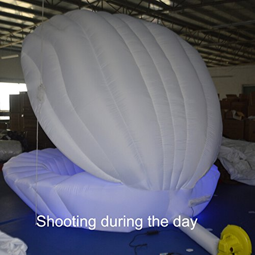 Inflatable Shell Wedding Decorations 3m Diameter Conch with RGB Led Light 17 Colors for Wedding or Party Decoration by Sayok (Image #2)
