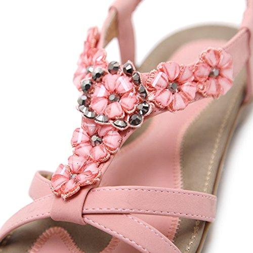 Femme Zamme Pour Cnpshoe178 Rose Sandales Fq8wtTqP