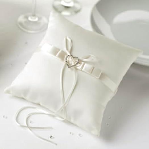 ivory heart wedding ring cushion - Heart Wedding Ring