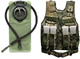 Ultimate Arms Gear British Multi Terrain Camo Paintball Airsoft Battle Gear Tank-Armor Pod Vest & Belt + 2.5 Liter Hydration Backpack Water Bladder Reservoir Hands Free Bite Valve Hosing