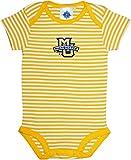 Marquette University Golden Eagles Baby Striped Bodysuit