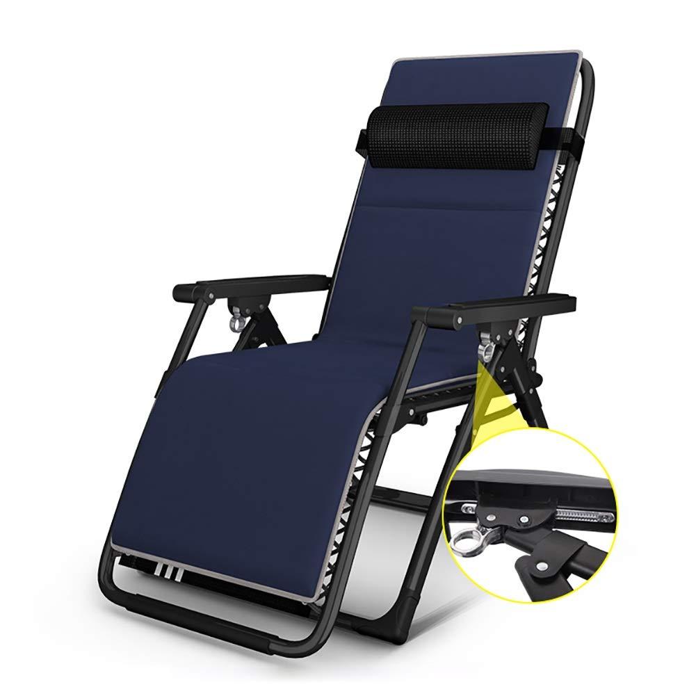 ラウンジチェア 携帯用折りたたみ椅子、スポンジクッション付き、屋外パティオ用背もたれ長椅子、プール、庭 (色 : Style 2) B07RVHJHCW Style 2