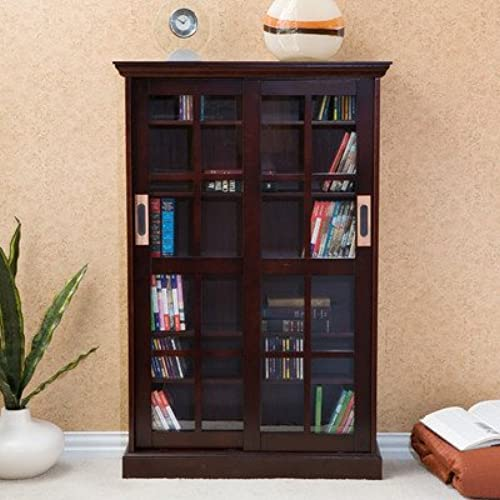 Broxton Sliding Door Media Cabinet In Espresso