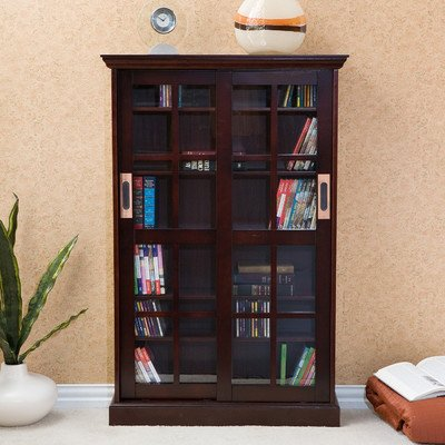 Broxton Sliding Door Media Cabinet in (Southern Enterprises Dvd Storage Media Storage)