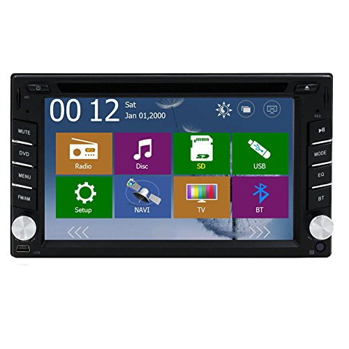Free GPS Navigation Map + Windows 8 2015 New Model 6.2-inch Double 2-din LCD Touch Screen in Dash Car DVD Player with Dvd/cd/mp3/mp4/usb/sd/amfm/rds Radio/bluetooth/stereo/audio and GPS Navigation