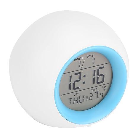 Despertador Digital, Reloj Alarma con Luz de Colores ...