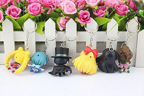 Sailor Moon Mars Jupiter Venus Mercury PVC Action Figure Toys 6 Pcs/set