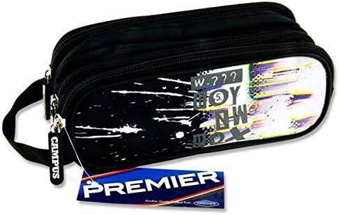Premier Stationery C5616171 - Estuche ovalado con 3 bolsillos y cremallera: Amazon.es: Oficina y papelería