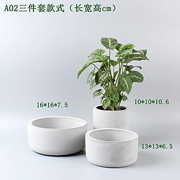 YQOOO - Macetas de cerámica con ventosas para jardín, hogar, flores, cemento fino
