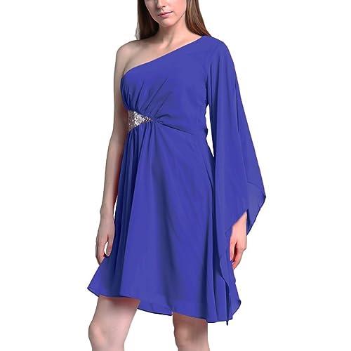 Abendkleider Kurz Blau: Amazon.de