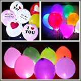 Bazaar 25pcs 1.7cm Round LED Balloon Light Lamp Glowing Balloon Lights Birthday Wedding Party Decoration